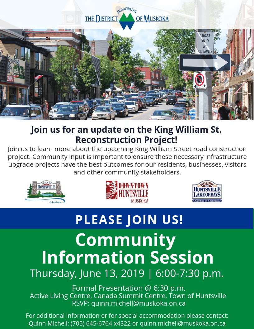 June 13 Community Information Session Invite - Huntsville