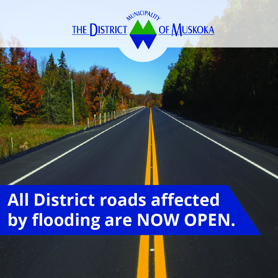 Flooded Roads Now Open - Notice
