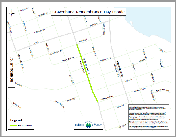 Remembrance Day Parade Map