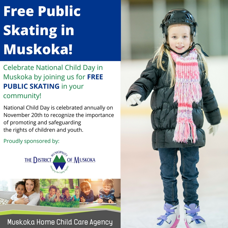 National Child Day Free Public Skating in Muskoka
