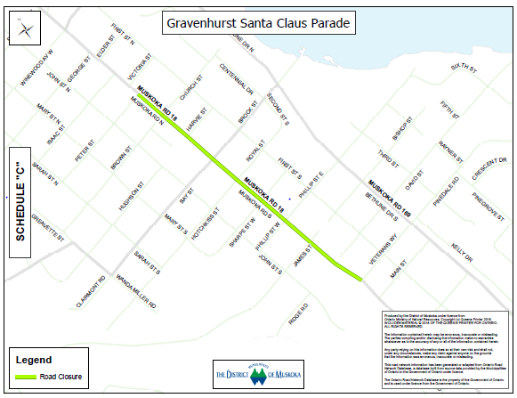 Santa Claus Parade Road Closure 2019