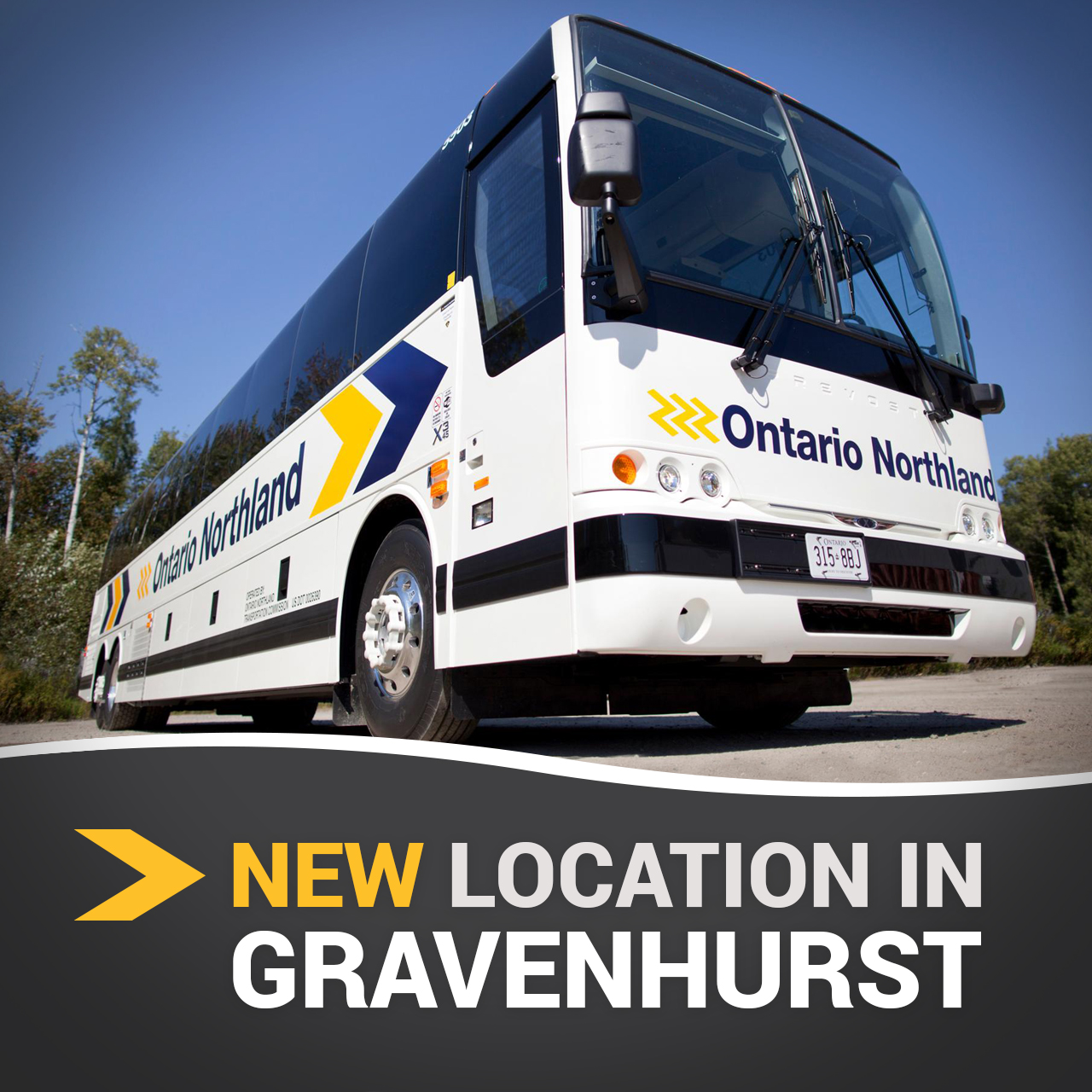 Ontario Northland Bus Service - New Gravenhurst Location