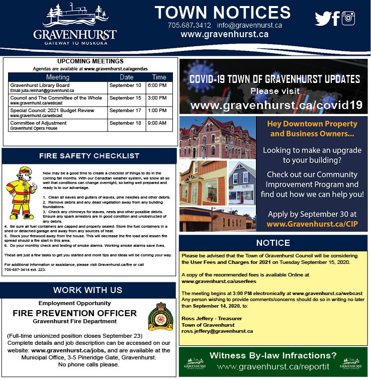 Town Notices_Sept 10_2020 REVISED