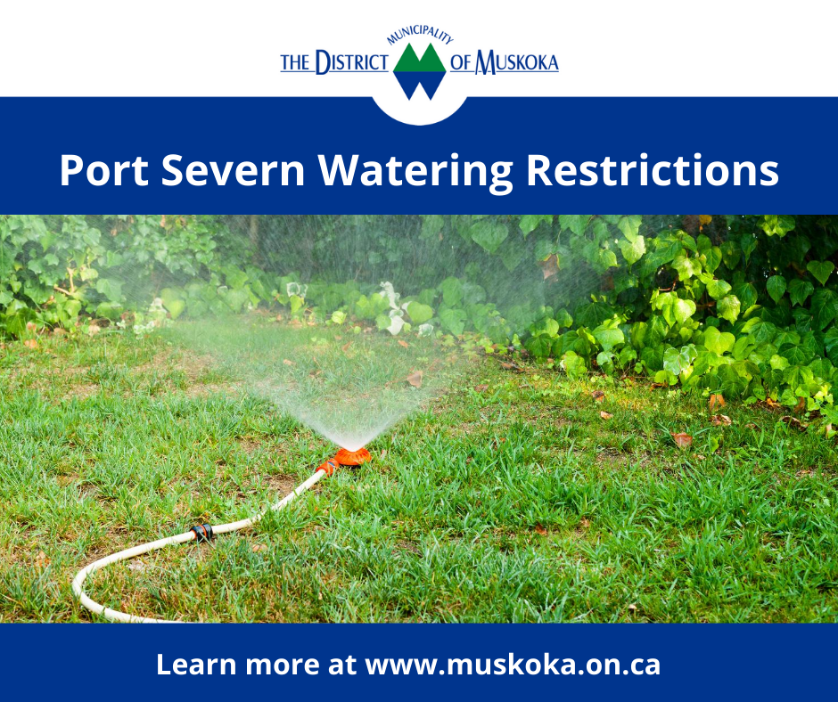 Port Severn Watering Restrictions - July 2020