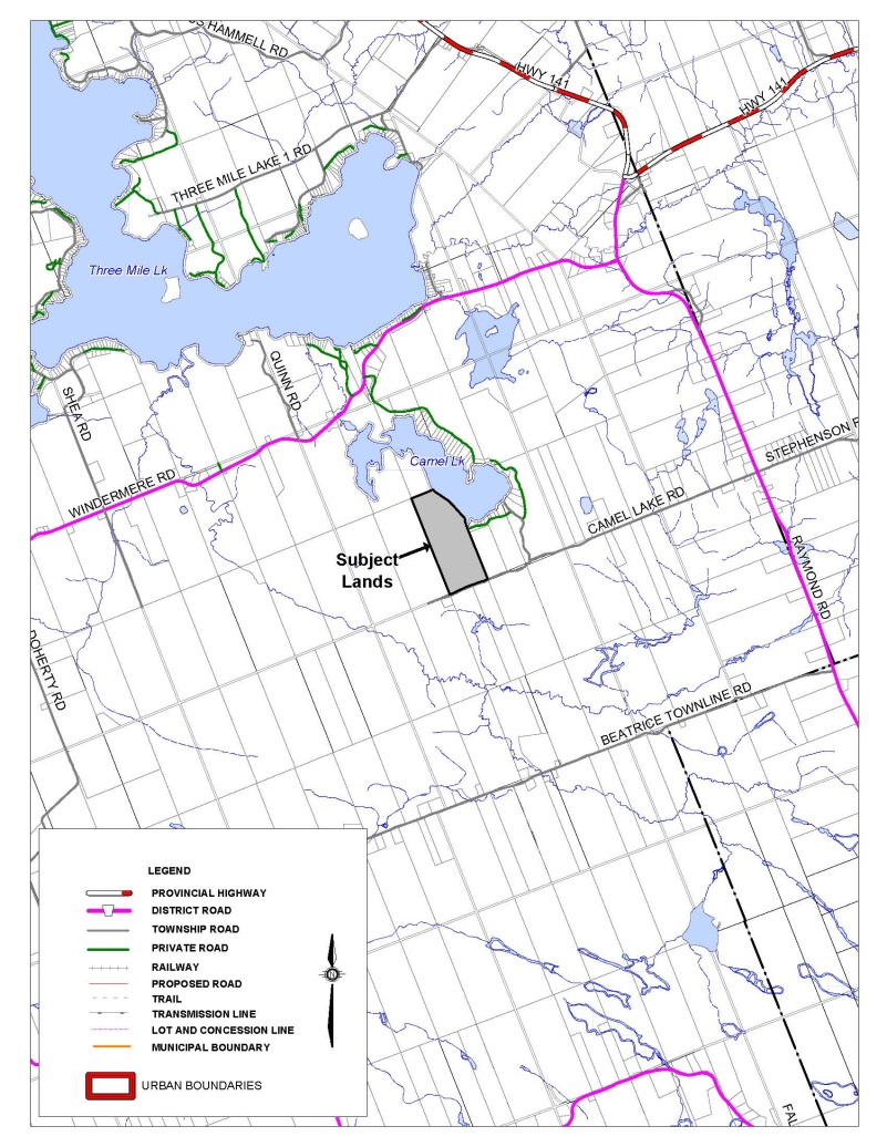 Key Map of Notice of Public Meeting for S2015-3 (Camel Lake)