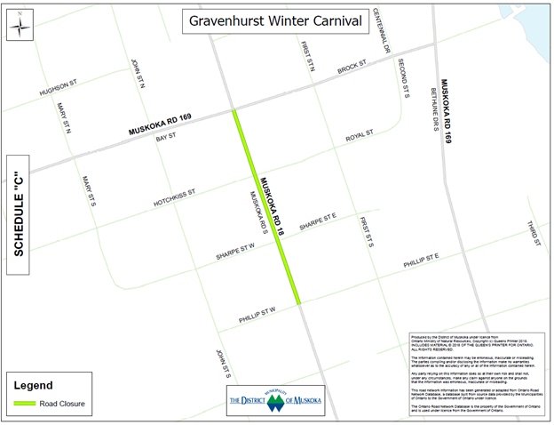 Upcoming Special Event Temporary Road Closure (2019 Gravenhurst Winter Carnival)