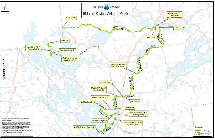 Ride for Kayla's Children Centre Map