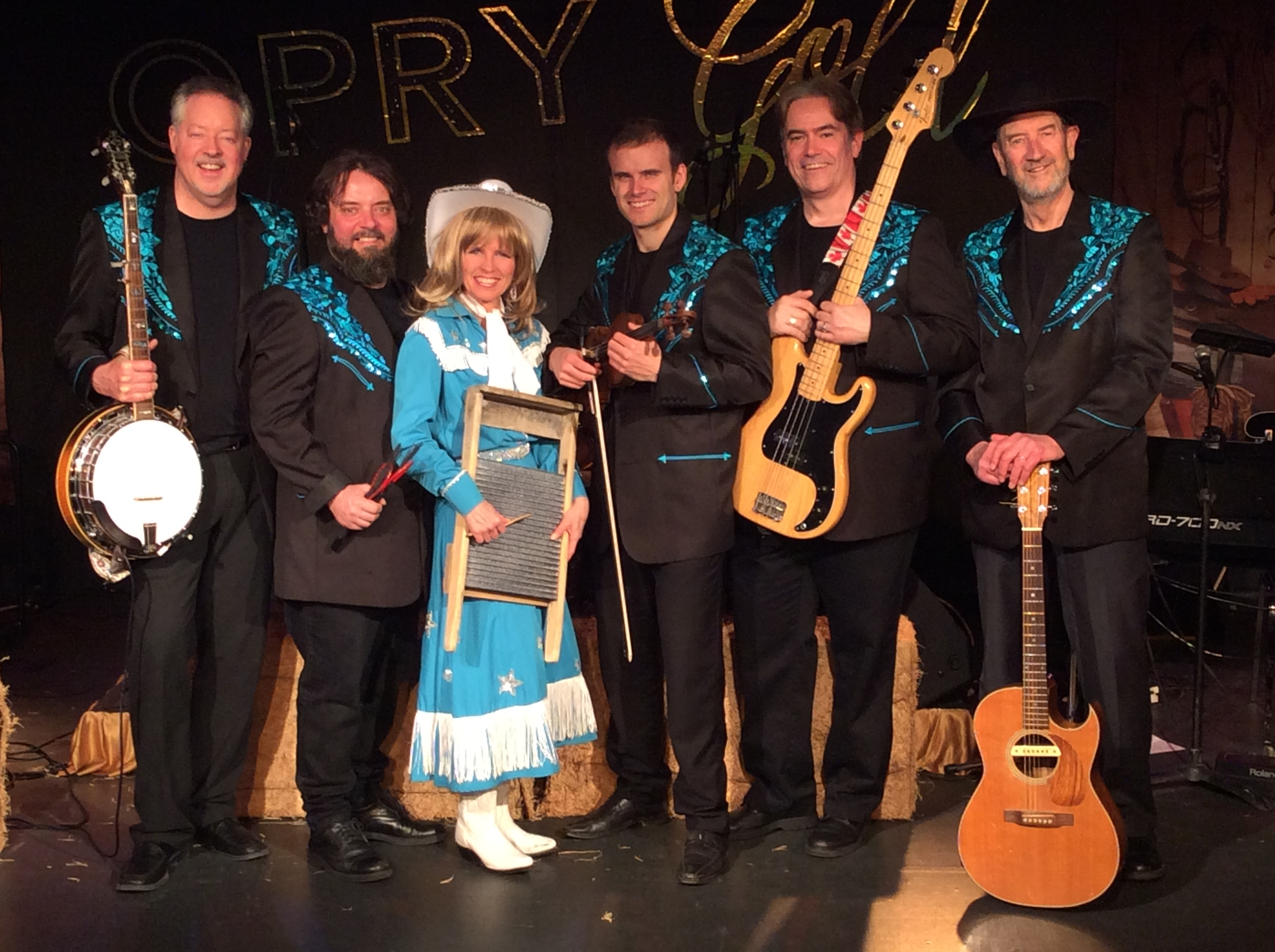 Opry Gold cast (standing with instruments)