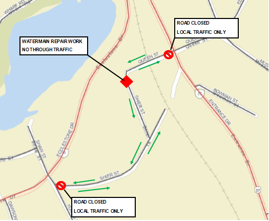 Shier and Queen Street Temporary Closure