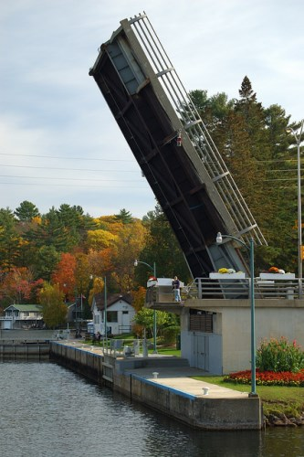 Port Carling Lift Birdge Open